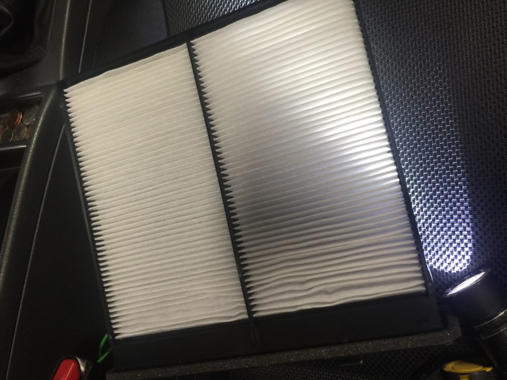 Clean cabin air filter