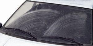 worn wiper blades leaving streaks on windshield